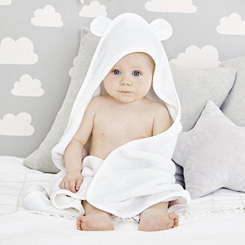 Bamboo Baby Hooded Towel | Bear Ears | Organic Ultra Plush | (Bamboo Bear)