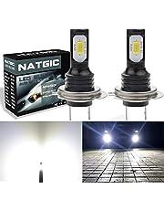 NATGIC H7 LED Bulb Fog Light Daytime Running Light Super Bright DRL TOP Advanced 3570 CSP LED Chips 6500K 2400LM Waterproof IP68 75W 12V White LED Light(pack of 2)