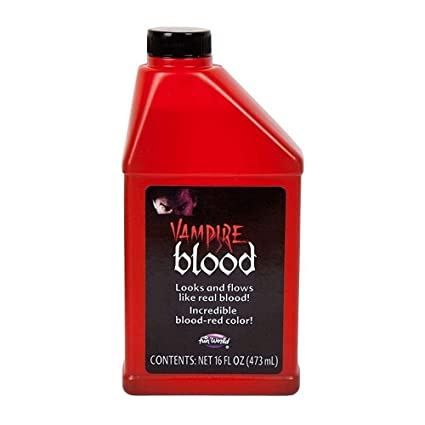 Bottle of Fake Vampire Blood Halloween Fancy Dress Theatrical Make-Up  0 47litre