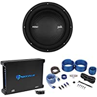 "Polk Audio MM1042DVC 10"" 1200w DVC Car Audio Subwoofer+Mono Amplifier+Amp Kit"