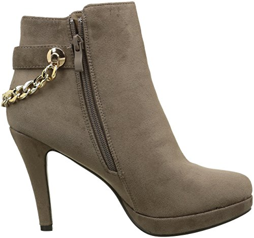 ChaussMoi Taupe Faux Suede Heel 10.5 cm and Platform Boots nzhWA