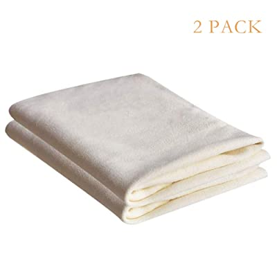 SOMNIA Premium Multifunctional Cleaning Drying Towel Cloth for Cars, Screens, Lenses, Glasses, Synthetic Microfiber Towel Chamois Cloth, Non Lint , High Absorptive, Soft, Durable, 14X20In, 2 Pack: Home & Kitchen