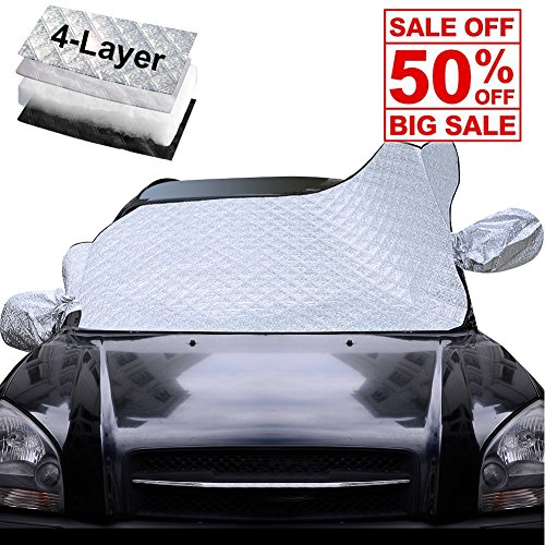 Thicker Car Windshield Snow Cover & Sun Shade Protector - Frost Guard Ice Dust Exterior Cover Fits for Car ,SUV,Van