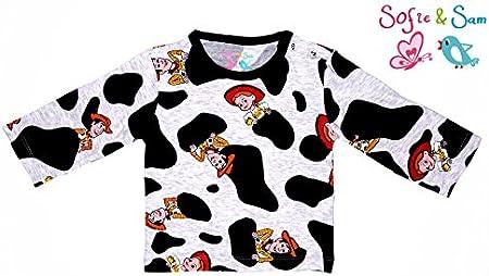 Sofie /& Sam Biologique Coton Pleine Sleeves B/éb/é Tee T-Shirt De 6 /à 9 Mois Impression de Chien//Briller