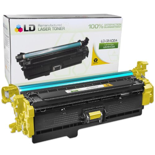 LD © Remanufactured Replacement for HP CE402A / 507A Yellow Laser Toner Cartridge for HP LaserJet Enterprise 500 Color M551dn, M551n, M551xh, MFP M575dn, MFP M575f, and MFP M575c
