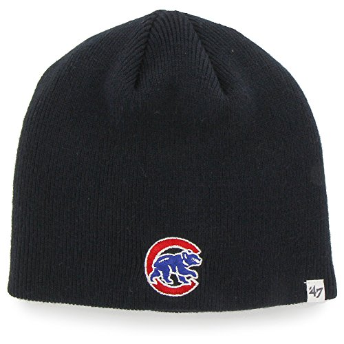Beanie Sox Red (Chicago Cubs Navy Blue Skull Cap - MLB Cuffless Winter Knit Toque Beanie Hat)