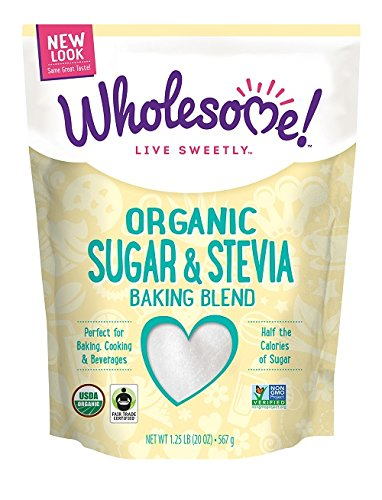 Wholesome Sweeteners, Organic Sweet and Lite Sugar and Stevia Blend, 1.25 Pound by Wholesome Sweeteners