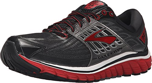 Brooks Men's Glycerin 14 Black/High Risk Red/Anthracite Sneaker 8 D (M)