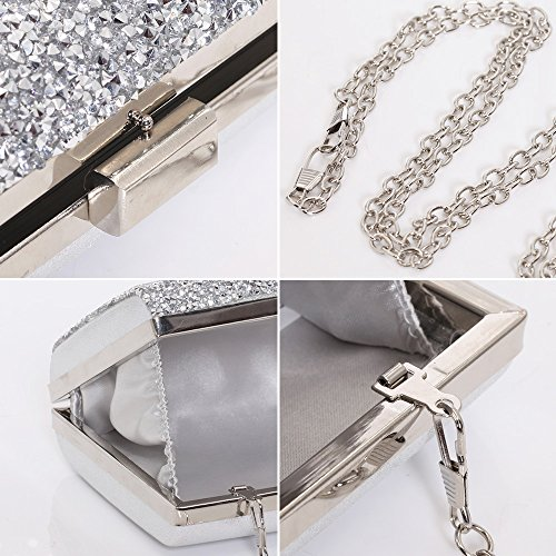 silver HBeauty Pochette Pochette HBeauty femme pour rnX0YXwq