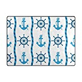 INGBAGS Super Soft Modern Anchor Area Rugs Living Room Carpet Bedroom Rug for Children Play Solid Home Decorator Floor Rug and Carpets 63 x 48 Inch