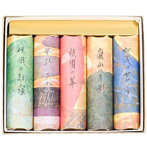 Kousaido Japanese Organic Incense Stick Gift Set in Box - 5 Types of - Types Incense Of