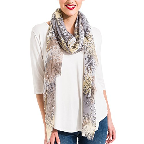 Scarf for Women Lightweight Wave Pattern Fashion Fall Winter Scarves Shawl Wraps by Melifluos (SS26) ()