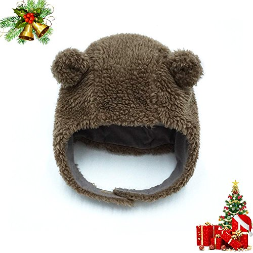 keepersheep-ear-bomber-hats-with-hook-and-loop-chin-strap-0-3-months-coffee