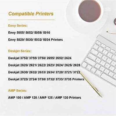 #65 XL 65XL Lot Ink Cartridge for HP DeskJet 3755 2655 3752 2652 2624 3730 3732
