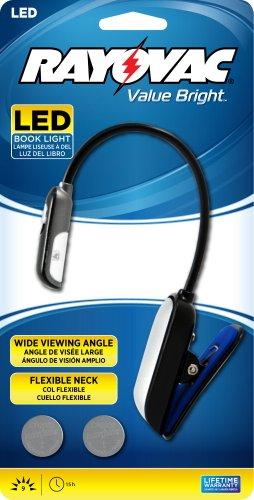 Rayovac Value Bright 9-Lumen CR2032 Reading Clip Light wi...