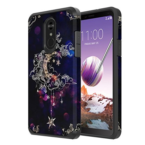 LG Stylo 4 Case, LG Stylo 4 Plus Case, Onyxii Hybrid Dual Layer Slim Graphic Armor Shockproof Impact Resistant Protective Cover Case for LG Stylo4 / LG Stylo4 Plus (Wiccan)