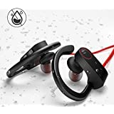 Wireless Bluetooth Headphones U8 with Mic Sports Earphones HD Stereo Sweatproof Waterproof Earbud Comfy & Lightweight & Fast Pairing Gym Running Exercise Long Playtime Noise Cancelling in-Ear Headset