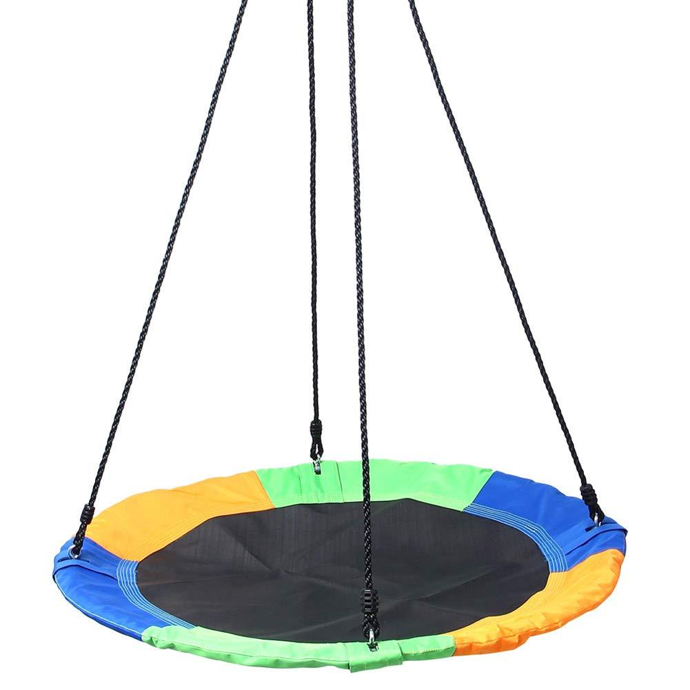 Kinder Schaukel 40 Runde hängende Sitz Nest Schaukeln Set Untertasse Baum Schaukel mit verstellbaren Seilen