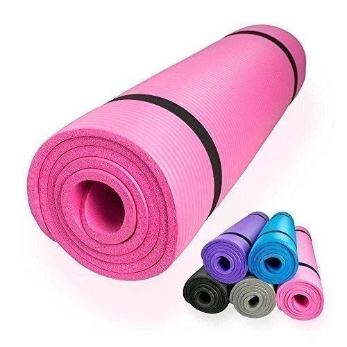 diMio Yogamatte / Pilatesmatte 185 x 60 cm, 5 Farben / 2 Stärken, rutschfest (Pink, 185 x 60 x 1.5 cm)