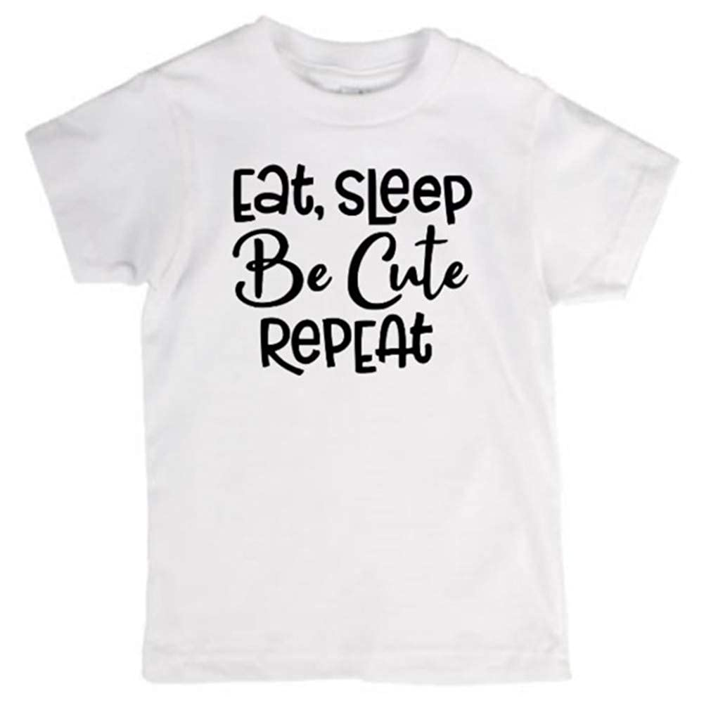 Jenuine Crafts Eat Sleep Be Cute Repeat Kids Toddler Youth T Shirt