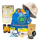 Outdoor Adventure Kit for Kids-20 pc Bug Catching & Explorer Kit-Binoculars-Compass-Magnifying Glass- Bug