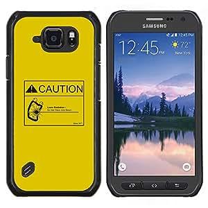 Be-Star Único Patrón Plástico Duro Fundas Cover Cubre Hard Case Cover Para Samsung Galaxy S6 active / SM-G890 (NOT S6) ( Attenzione radiazione laser )
