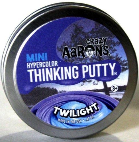 Small Tin Crazy Aarons Thinking Putty Twilight HEAT SENSITIVE
