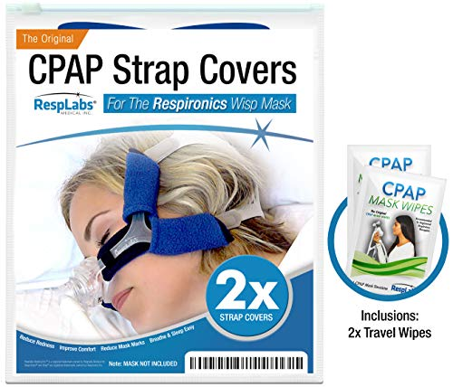 CPAP Headgear Covers, Compatible with Respironics Wisp — [2 Pack] Fleece Comfort Wraps + Inclusions   Machine, Masks & Equipment Supplies by RespLabs