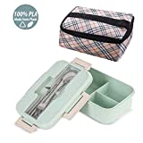 Buringer Lunch Bento Box with Insulated Lunch Bag Fork Spoon and Chopsticks Food