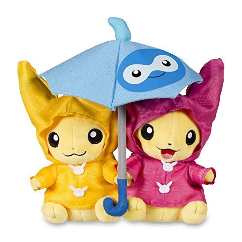 Pokemon Umbrella for Two Pikachu 8-Inch Plush [Paired Celebrations] by Pokemon