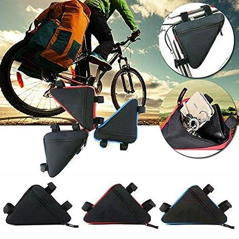 xinzhi Fahrrad-Dreieck-Tasche Mountainbike-Strahl-Tasche Reiten Satteltasche Fahrrad Front Tube Aufbewahrungstasche Front Tube Frame Triangle Bag Schwarz Blau