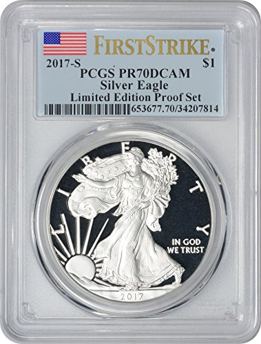 2017 S American Silver Eagle Limited Edition Silver Proof Set, First Strike Dollar PR70DCAM PCGS