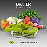mandoline slicer wide - Mandoline Slicer, Coolcha Vegetable Grater & Julienne Slicer Cutter for Cucumber, Onion, Cheese With 7 Thickness Settings Interchangeable Stainless Steel Blades +Food Container - Mandolin