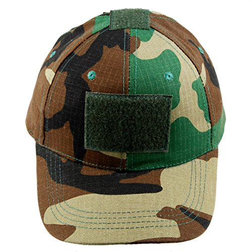 moonsix Tactical Caps for Men,Military Style Camouflage Operator Hats Hunting Army Hat Baseball Cap(Woodland Camo) (Camouflage Cap Style)