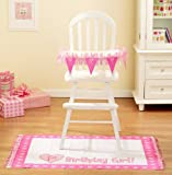 : Baby Girl's First Birthday High Chair Decorating Kit, 2pc