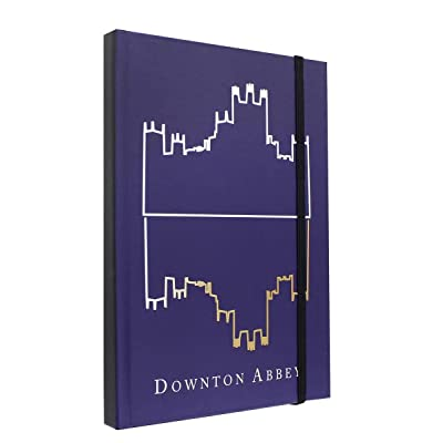 "Downton Abbey Journal - Large Diary with Silhouette Logo - 6"" x 8.5"" Notebook: Toys & Games"