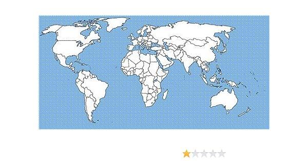 amazon com blank world map glossy poster picture photo globe
