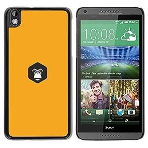Be Good Phone Accessory // Dura Cáscara cubierta Protectora Caso Carcasa Funda de Protección para HTC DESIRE 816 // yellow Gorilla inside