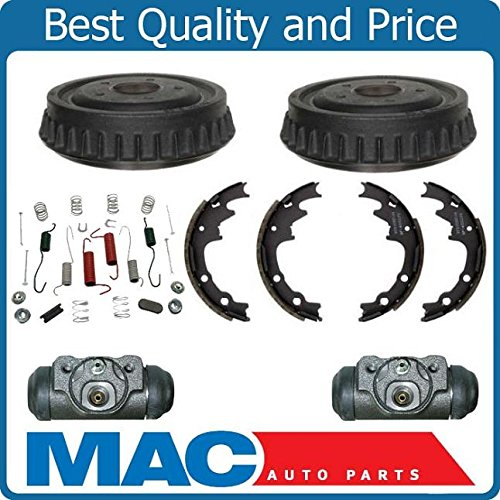 (Standard Smaller 9 Inch Drums W Cylinders Shoes & Springs Kit Fits For Ford Ranger 83-94)