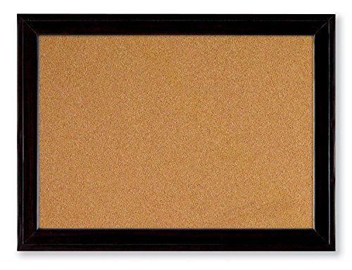 Quartet Cork Bulletin Board, 17 x 23 Inches, Home Dcor Corkboard, Black Frame (79281)
