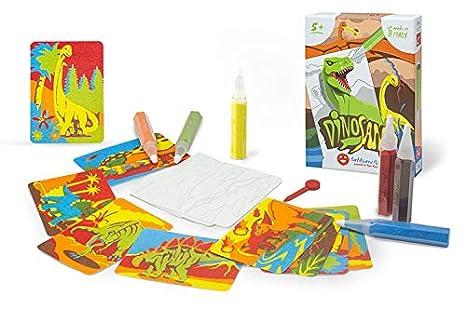 Sabbiarelli Sand It For Fun Kit Dinosand Colora Con La Sabbia I