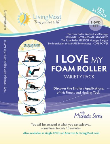 I LOVE my Foam Roller Variety Pack - 5-DVD Set with Michaela Sirbu