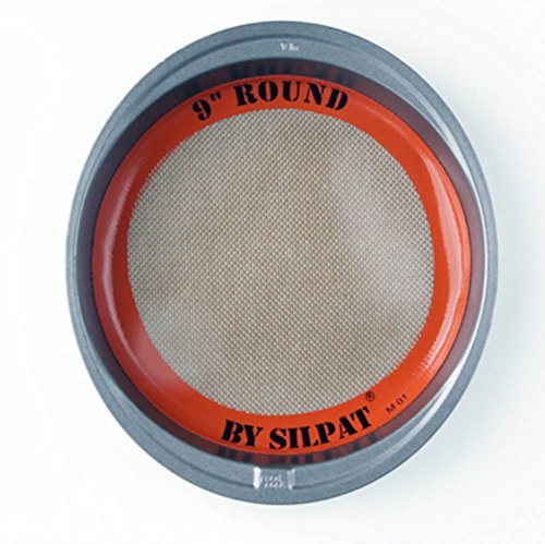 Silpat AH222-01 Round Cake Liner, 9 inch, Orange