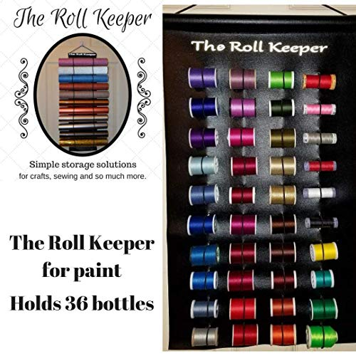 The Roll Keeper for Thread-Hanging Thread Storage-Sewing Room Organizer-Sewing Room Hanging Storage-Black Color-Holds 36 Spools of Thread from The Roll Keeper