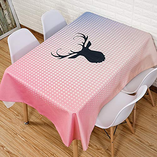 F 60150cm QQWWERTG Nordic Tablecloth Fabric Cotton Linen Square Rectangular Waterproof Oilproof AntiScalding Disposable Table Cloth