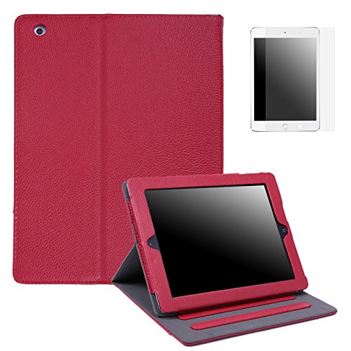 HDE iPad 2 3 4 Leather Case with Screen Protector - Professi