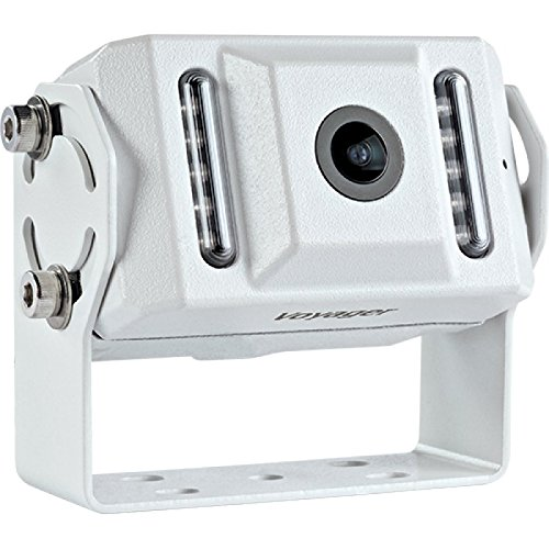 Voyager VCMS155 Color CCD IR LED Camera, White, High performance color optics, Waterproof (IP69K), 155 degrees Viewing angle, IR low light assist (9 LEDs), Mirro image orientation, Microphone, White Aluminum Housing, Corrosion resistant (ASTM B117) Review