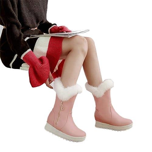 Shirloy Cuello Piel en Las Botas Nieve Botas cálidas algodón para ...