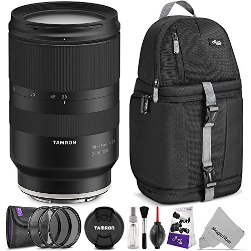 Tamron 28-75mm f/2.8 Di III RXD Lens for Sony E Mount Cameras w/Advanced Photo and Travel Bundle (Tamron 6 Year Limited USA Warranty)