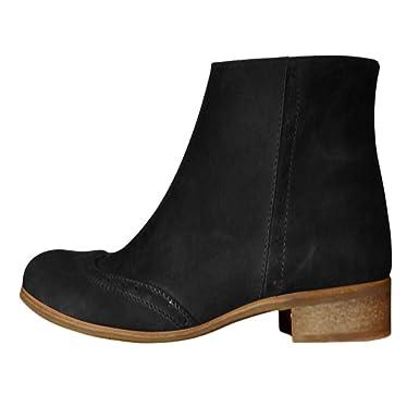 dbf1efa73d0f8 Amazon.com: Kenvina Boots for Women,2019 New Flats Round Toe Low ...